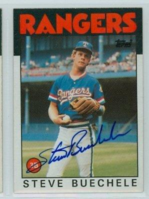 Steve Buechele AUTOGRAPH 1986 Topps #397 Texas Rangers