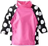 Flap Happy Baby-Girls infantil Imprimir Combo Rashguard Top, Dot Negro, 18Meses Color: Negro Dot Tamaño: 18Meses de Bebé, Niño, bebé