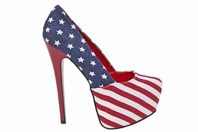 womens american flag platform shoe