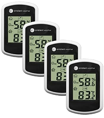 Ambient Weather Compact Indoor Temperature and Humidity Monitor from Ambient Weather