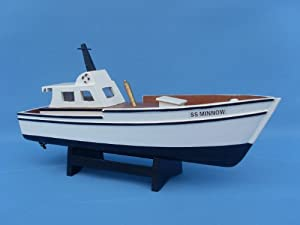 """Gilligan's Island - Minnow 14"""" - Famous Ships - Model Ship Wood Replica - Not a Model Kit from Handcrafted Model Ships"""