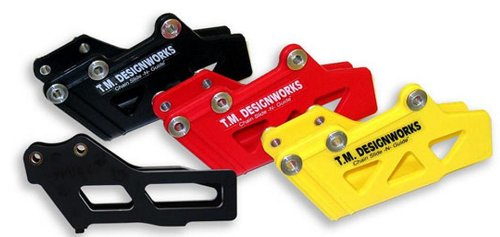 T.M. Designworks Moto-X / O.E. Replacement Polifibar Rear Chain Guide Shell And Plastic Rub Block Insert - Yellow Rcg-108-Yl