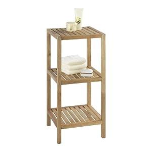 Wenko Norway 18617100 Scaffale da bagno e da casa, 3 ripiani, in legno di nocciolo, 36x79x36 cm   recensione