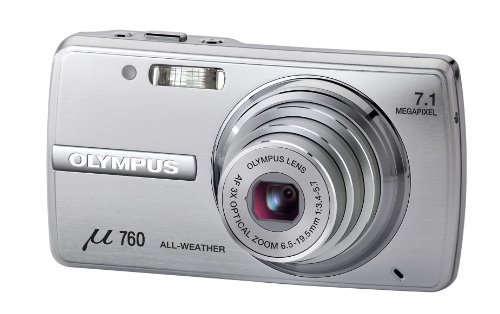 Olympus Mju 760 Digital Compact Camera - Light Silver (7.1MP, 3x Optical Zoom) 2.5