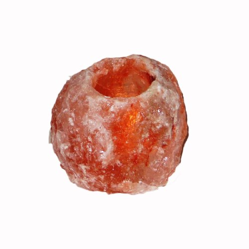 Natural Himalayan Salt Candle Holder 1~3 Lbs. With 3 Silicon Feet