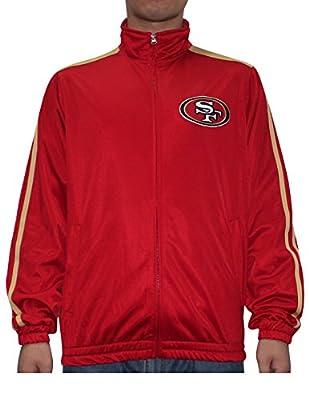 NFL SAN FRANCISCO 49ERS Mens Athletic Zip-Up Warm Track Jacket