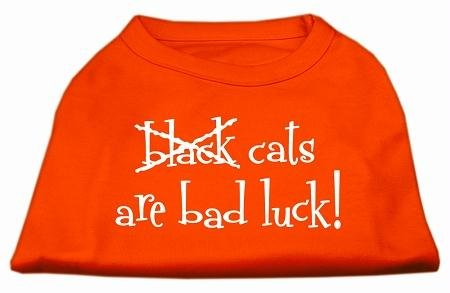 Mirage - Black Cats Are Bad Luck Screen Print Shirt Orange Xl (16) Product Category: Holiday Pet Products/Halloween - Black Cats Are Bad Luck Screen Print Shirt вентилятор exegate mirage 50x10h 5010m12h 253943