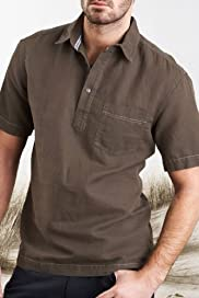 North Coast Short Sleeve Waffle Shirt with Linen [T25-4281N-S]