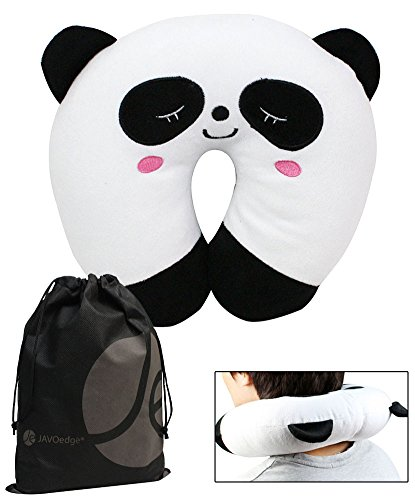 Panda Children's Neck Pillow (3 Yrs +), Bonus Reusable Storage Bag