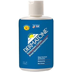 DERMATONE Sunscreen with Aloe and Vitamin E SPF 33, 4 Fluid Ounce