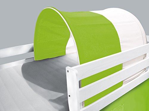 Tunnel / grotte pour lit surélevé - Lit de jeu vert/blanc - TSG-50
