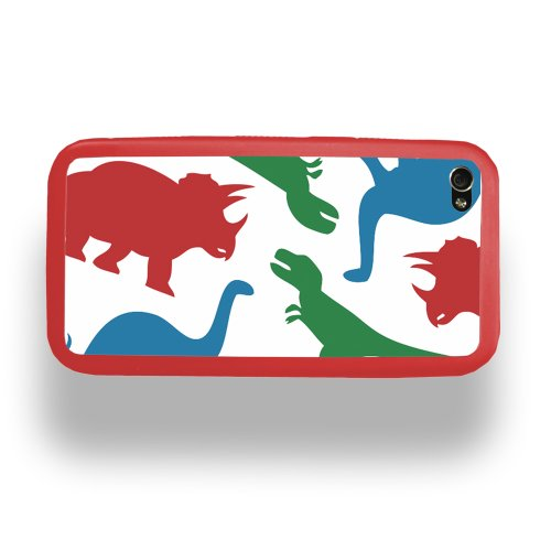 Dinosaur Print - Apple iPhone 4 Custom Case by ZERO GRAVITY