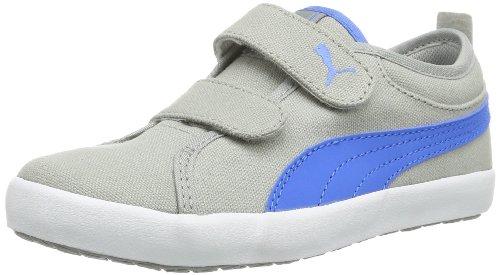Puma - Sneaker Elsu Bluchertoe Cvs V Kids, Unisex bambini, Grigio (Grau (limestone gray-french blue 02)), 20