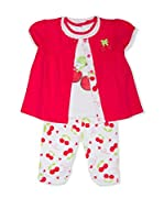 Pitter Patter Baby Gifts Conjunto (Fucsia / Blanco)