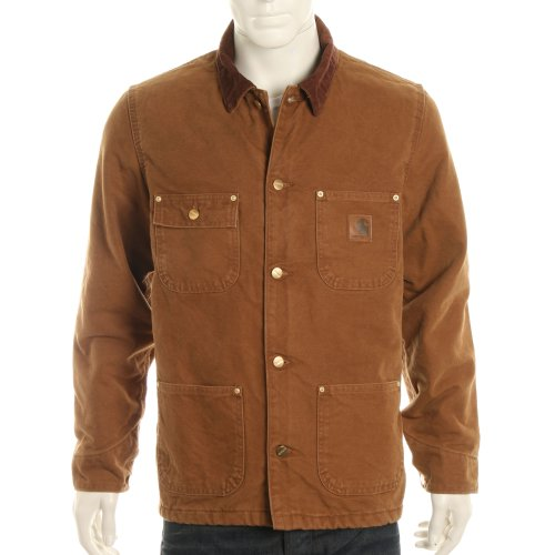 Carhartt Mens Chore Blanket Lined Washed Coat - Sandstone Brown - XXL