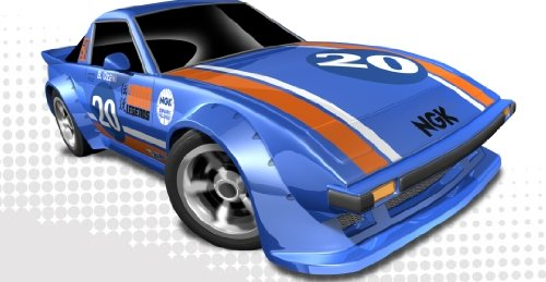 Hot Wheels - Mazda RX-7 20 NGK Blue - 2012 New Models - Scale 1:64