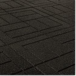 "Brava - Outdoor Interlocking Rubber Pavers Black Brick, 24""x24""x3/4"