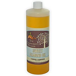 Sweet Almond Oil (32 Oz./ 1 Quart) - Organic, Pure, Natural, Cold Pressed and Non-gmo - Apply Directly Onto Face, Skin and Hair - Great for Massages and Muscle Pain - Treats Acne and Eczema - Delays the Aging Process - Transform Your Skin, Hair and Nails - Best Sweet Almond Oil Available