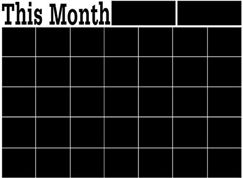 ウォール ステッカー シール 黒板 カレンダー 水拭き 消せる スケジュール...