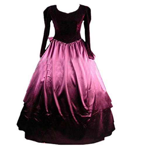 Cozy Age Women's Long Sleeves Ruffles Gothic Victorian Dress for Sale