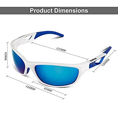 RIVBOS® Polarized Sports Sunglasses Glasses for Men Women Tr90 Unbreakable Frame Rb831