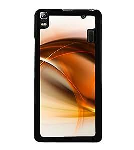Orange Fluid Pattern 2D Hard Polycarbonate Designer Back Case Cover for Lenovo A7000 :: Lenovo A7000 Plus :: Lenovo K3 Note