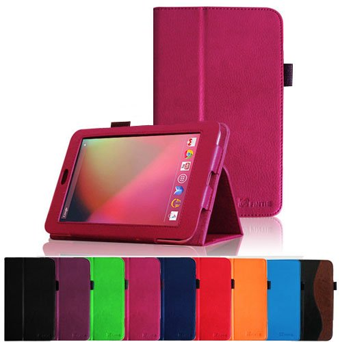 FINTIE (Deep Pink) Slim Fit Folio Stand Leather