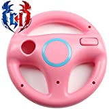 Gamer's House Steer Wheel for Nintendo Wii Racing Games Mario Kart, GT Pro, Color Rose Pink