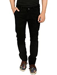 Nimegh Black Colored Corduroy Casual Solid Trouser For Men's