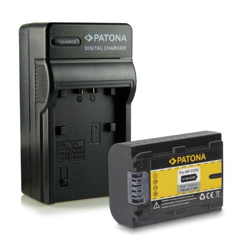 Novità - 4in1 Caricabatteria + Batteria come NP-FH50 per Sony CyberShot DSC-HX1 | DSC-HX100V | DSC-HX200V - DSLR Alpha 230 DSLR-A230 | 330 DSLR-A330 | 380 DSLR-A380 | 390 DSLR-A390 - Camcorder DCR-DVD Series | DCR-HC Series e più...