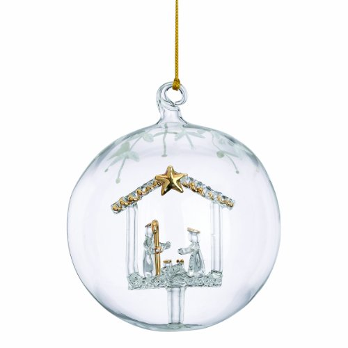 Lenox Nativity Crystal Wonder Ornament (Lenox Crystal Ornaments compare prices)