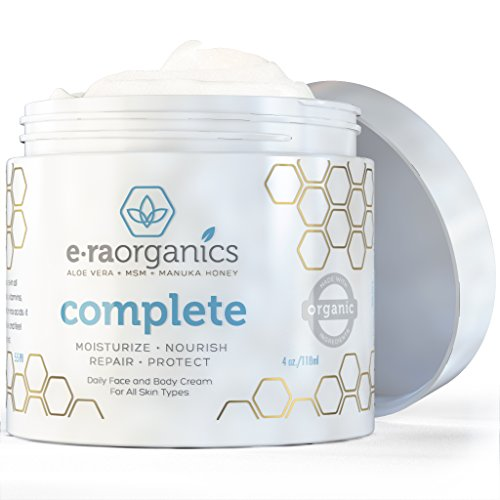 Top Rated 100% Natural Face Moisturizer Cream (4Oz) • Advanced Healing Dry Skin Moisturizer With Manuka Honey + Aloe Vera + Msm + Shea Butter + Blue Green Algae + Coconut Oil To Nourish Your Face, Body And Hands • Our Vegan Friendly, Non-Greasy Formula Ma
