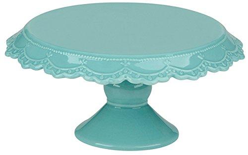 Patisserie  Plat à gâteau sur pied  bleu