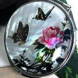 螺鈿[らでん]花に舞う揚羽蝶 コンパクトミラー[S]