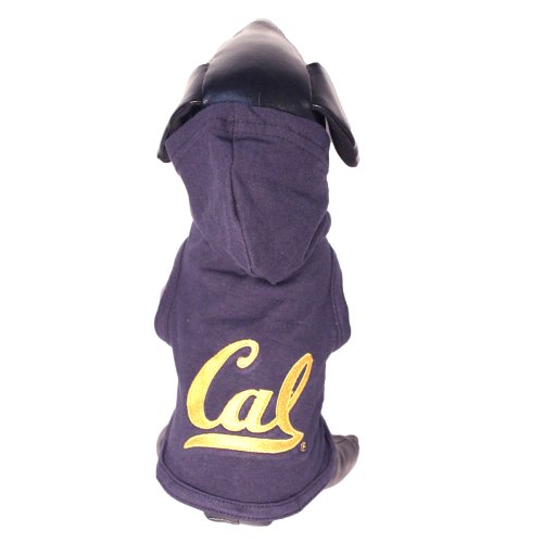 NCAA California Golden Bears Collegiate Cotton Lycra Hooded Dog Shirt (Team Color, Large)
