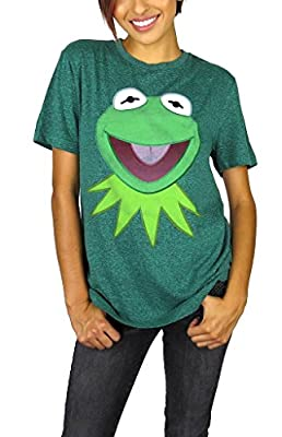 Disney Muppets Womens Kermit The Frog Tee Green Heather