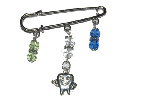 Tooth Charm Pin - Great Gift Idea for a Dentist or Dental Assistant