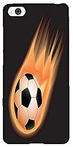 Snoogg soccer fire Hard Back Case Cover Shield For Xiaomi Mi4i / Mi4I