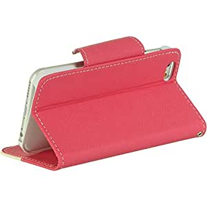 Dream Wireless iPhone 6 Wristlet Pouch Stand with Card Slots - Retail Packaging - Hot Pink/ White