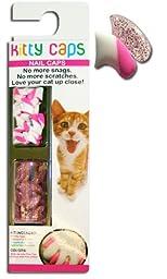 Kitty Caps, Medium White w/ Pink Tips & Clear w/ Pink Glitter : Cat (9-13lbs)...