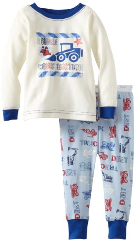 Vitamins Baby-Boys Infant 2 Piece Truck Pajama Set, Ivory, 24 Months