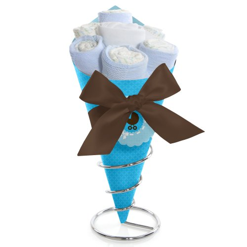 Boy Baby Carriage - Diaper Bouquet front-681602