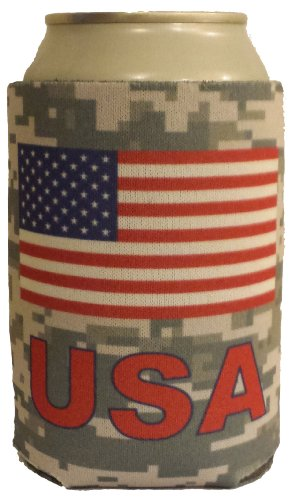 USA Can Cooler - America - High Quality Can Cooler! - Show American Pride! (Camo Can Koozie compare prices)