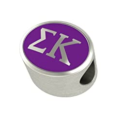 Sigma Kappa Enamel Sorority Bead Charm Fits Most European Style Bracelets. High Quality Bead in Stock for Fast Shipping. Officially Licensed