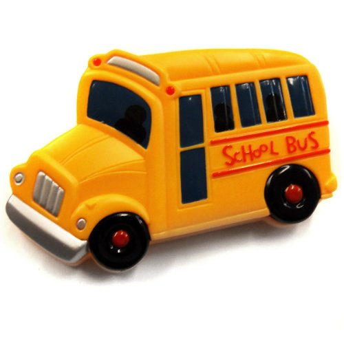 Want Acme Yellow School Bus Refrigerator Magnetic Clip