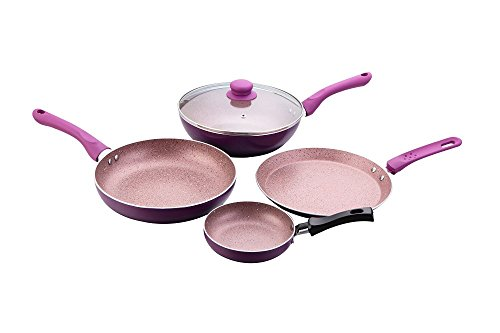 Wonderchef Royal Velvet Induction Base Cookware Set, 4-Pieces