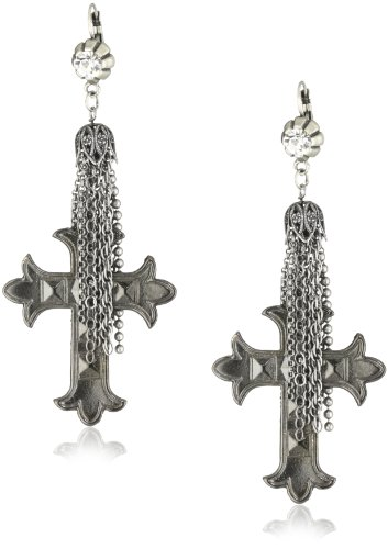 Maiden Art Jewelry Cross Earrings with Tassel