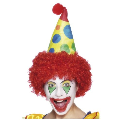 Smiffy's Men's Clown Hat with Wig, Multi, One Size - 1