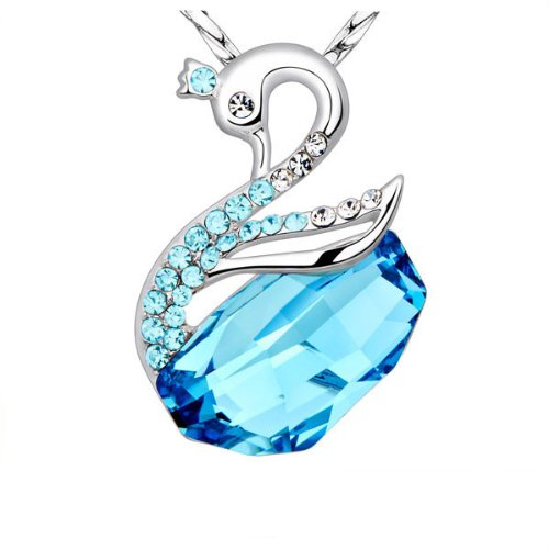 Swarovski Swan Pendant with 925 Silver for Women by NEVI