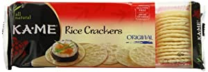 Ka-Me Rice Crackers, Original, 3.5 Ounce Packages (Pack of 12)
